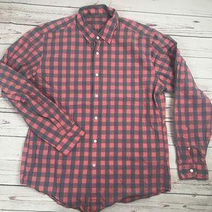 J. Crew light button up shirt Sz L